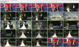 Abigail Clancy - cleavage in her wedding dress - OK!TV - 1st July 2011