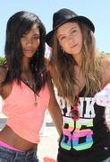 Chanel Iman &amp;amp; Behati Prinsloo VS Pink Nation Beach Bash in Miami Beach 16-03-2011